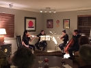 Crown City String Quartet performing at the Falkenstein residence