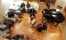 Aviara Trio performing at the Senger residence