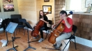 Spotlight Chamber Players instructed by cellist Dane Little from the Crown City String Quartet